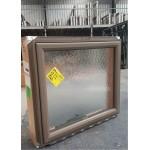 Aluminium Awning Window 650mm H x 740mm W SINGLE OBSCURE TGH GLAZED Jasper
