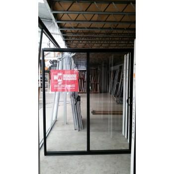 Aluminium Sliding Door 2100mm H x 1810mm W (Black)