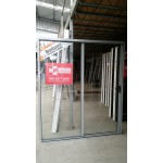 Aluminium Sliding Door 2100mm H x 2410mm W (Silver)