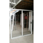 Aluminium Sliding Door 2100mm H x 2170mm W (White)