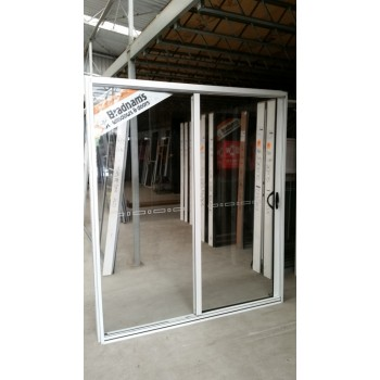 Aluminium Sliding Door 2095mm H x 2050mm W (White)