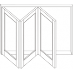 Timber Bifold Window 1057mm H x 1510mm W