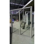 Aluminium Sliding Door 2100mm H x 1810mm W (Dune)