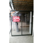 Aluminium Sliding Door 2100mm H x 1810mm W (Woodland Grey)
