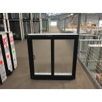Aluminium Sliding Window 600mm H x 610mm W  (SOB) (Black)