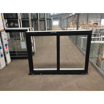 Aluminium Sliding Window 600mm H x 850mm W  (Black)