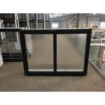 Aluminium Sliding Window 600mm H x 850mm W  (SOB) (Black)
