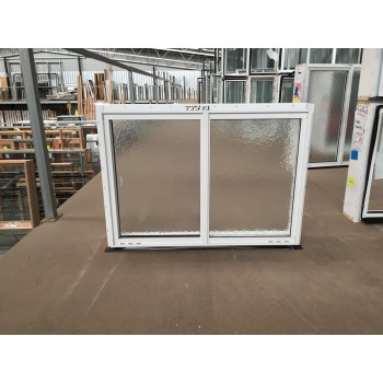 Aluminium Sliding Window 600mm H x 850mm W  (SOB) (White)