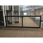 Aluminium Sliding Window 600mm H x 1810mm W  (Black)