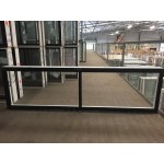 Aluminium Sliding Window 600mm H x 2050mm W  (Black)