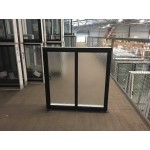 Aluminium Sliding Window 860mm H x 850mm W  (SOB) (Black)