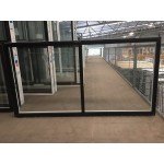 Aluminium Sliding Window 1030mm H x 2050mm W  (Black)