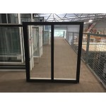 Aluminium Sliding Window 1200mm H x 1210mm W (Black)