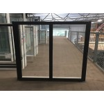Aluminium Sliding Window 1200mm H x 1450mm W  (Black)